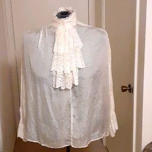 Long sleeve lace ruffle top